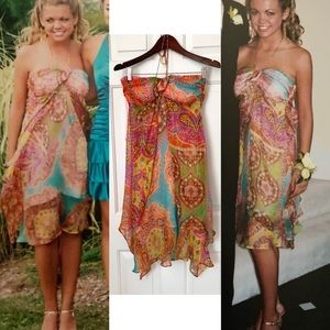 Alice & Trixie Boho Silk Halter Dress
